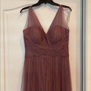 Bill Levkoff bridesmaid dress wisteria